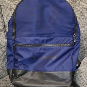 True Religion Navy and Black Backpack